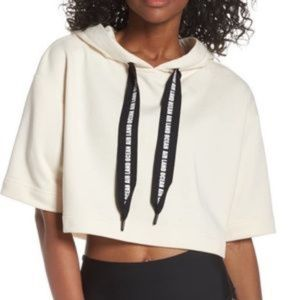 ALO Yoga Tops Cadence Black Cropped Pullover - S